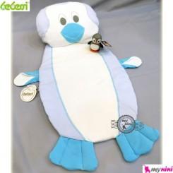 تشک و بالش نوزاد ببسی پنگوئن فیروزه ای Bebessi penguin mattress