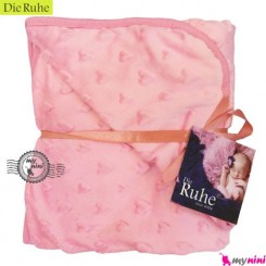 پتو نوزاد دی روحه کلاهدار صورتی Die Ruhe Baby Blanket