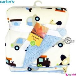 پتو کارترز آبی هلیکوپتر و ماشین Carters baby blanket