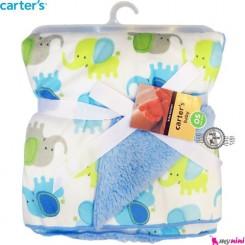 پتو نوزاد کارترز آبی فیل Carter's child blanket
