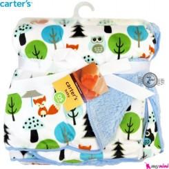 پتو نوزاد کارترز آبی جغد Carter's child blanket