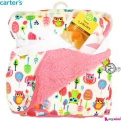 پتو نوزاد کارترز صورتی جغد Carter's child blanket