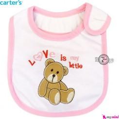 پیشبند کارترز سه لایه صورتی خرس Carter's baby bibs