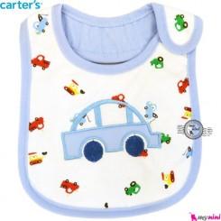پیشبند کارترز سه لایه آبی ماشین Carter's baby bibs