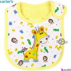 پیش بند کارترز سه لایه زرد زرافه Carter's baby bibs