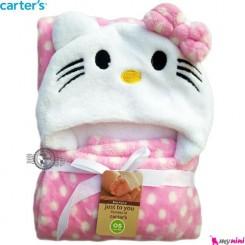 پتو کارترز صورتی خالدار کیتی carter's hooded blanket