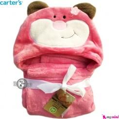 پتو کلاه دار کارترز موش صورتی carter's blanket