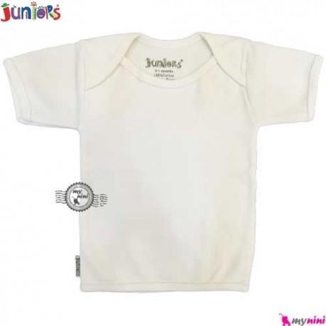 زیرپوش آستین کوتاه جونیورز پنبه ای Juniors baby Tshirt