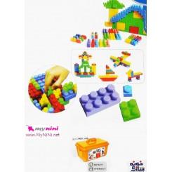 اسباب بازی آموزشی خونه سازی گلدونه