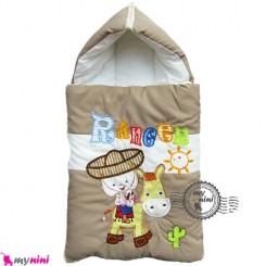 قنداق فرنگی نوزاد تترون نسکافه ای کابوی Baby Sleeping Bag