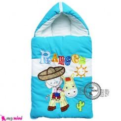 قنداق فرنگی نوزاد تترون فیروزه ای کابوی Baby Sleeping Bag