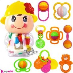 جغجغه عروسکی 8 عددی Cartoon baby rattles
