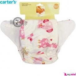 شورت آموزشی 3 لایه صورتی زرافه فیل کارترز Carters reusable diaper