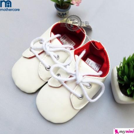 کفش بچگانه ورنی مادرکر سفید Mothercare baby shoes