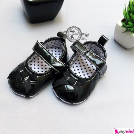 کفش دخترانه مشکی پاپیون دار Girl shoes