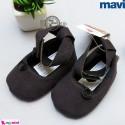 کفش دخترانه سُرمه ای گلدار ماوی Mavi girl shoes