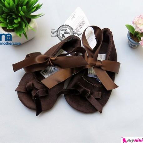 کفش مادرکر پاپیون دار قهوه ای Mothercare baby Shoes
