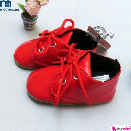 کفش بچگانه ورنی مادرکر قرمز Mothercare baby shoes