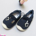 کفش دخترانه سُرمه ای پروانه Girl Shoes