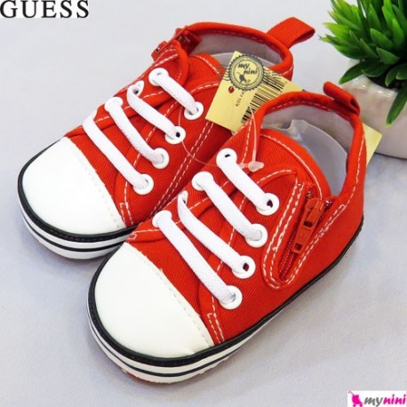 کفش اسپرت بچگانه مارک گِس قرمز Guess baby shoes