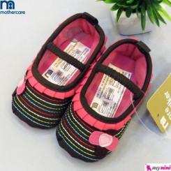 کفش دخترانه مادرکر قهوه ای صورتی Mothercare baby Shoes