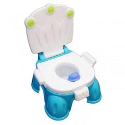توالت فرنگی 3 کاره فیروزه ای بهمراه تبدیل توالت فرنگی تاتیا Tatia Potty