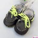 کفش کالج بچگانه بند سبز گُلف Baby shoes