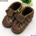نیم بوت بچگانه قهوه ای مارک گِس Guess baby shoes