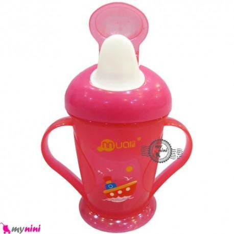 لیوان سوپاپ دار و نی دار مام لاو Mumlove suction nozzle cup