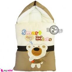 قنداق فرنگی نوزاد تترون خرس باهوش قهوه ای Baby Sleeping Bag