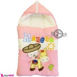 قنداق فرنگی نوزاد تترون صورتی کابوی Baby Sleeping Bag