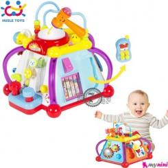دنیای بازی هویلی تویز آموزشی و موزیکال Huile Toys happy small world