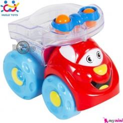 کامیون جغجغه ای هویلی تویز قدرتی Huile Toys shining cartoon car