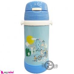فلاسک و قمقمه فلزی آبی دوچرخه و خانواده Baby thermos flask