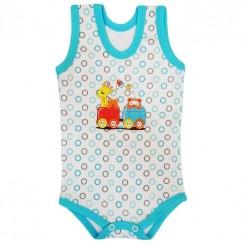 رکابی زیردکمه دار طرح قطار به آوران Behavaran Baby Clothes