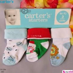 جوراب پنبه ای کارترز بچگانه Carter's baby socks