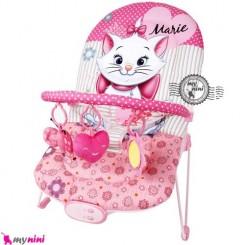 گهواره برقی موزیکال و بونسر دیزنی گربه Disney baby musical bouncerنی نی لای لای ویبره دار باعث آرام شدن نوزاد می شود