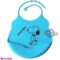 پیشبند کاسه ای سیلیکونی آبی سگ Baby silicone bib