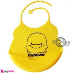 پیشبند کاسه ای سیلیکونی اردک زرد Baby silicone bib