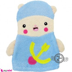 لیف عروسکی کودک لپ گلی Baby cartoon bath fiber