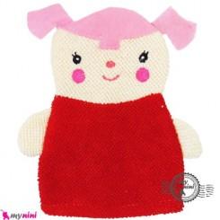 لیف عروسکی کودک دختر قرمز Baby cartoon bath fiber