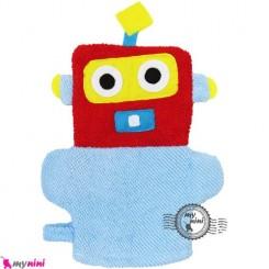 لیف عروسکی کودک ربات آبی Baby cartoon bath fiber