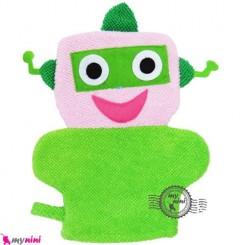 لیف عروسکی آدم فضایی سبز Baby cartoon bath fiber