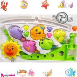 آویز تخت موزیکال خورشید و هشت پا Baby harmonious music mobile