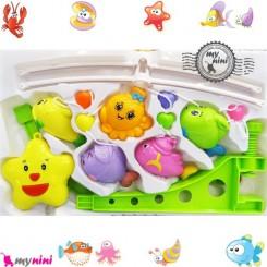 آویز تخت موزیکال ستاره و هشت پا Baby harmonious music mobile