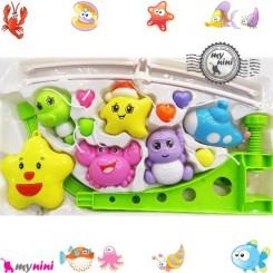 آویز تخت موزیکال ستاره و خرچنگ Baby harmonious music mobile