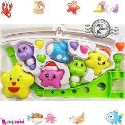 آویز تخت موزیکال ستاره و زیردریایی Baby harmonious music mobile