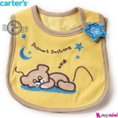 پیشبند کارترز پنبه ای خرس خوابیده Carters baby cotton bib