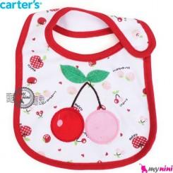پیشبند کارترز پنبه ای آلبالو Carters baby cotton bib