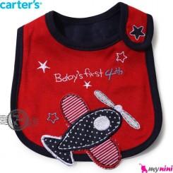 پیشبند کارترز پنبه ای قرمز هواپیما Carters baby cotton bib